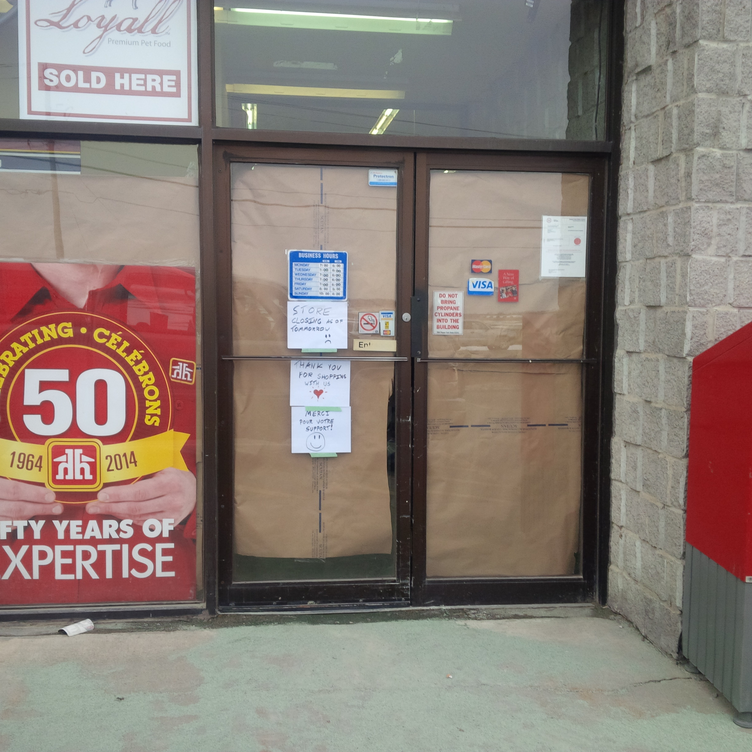 Sarsfield Home Hardware closes its doors