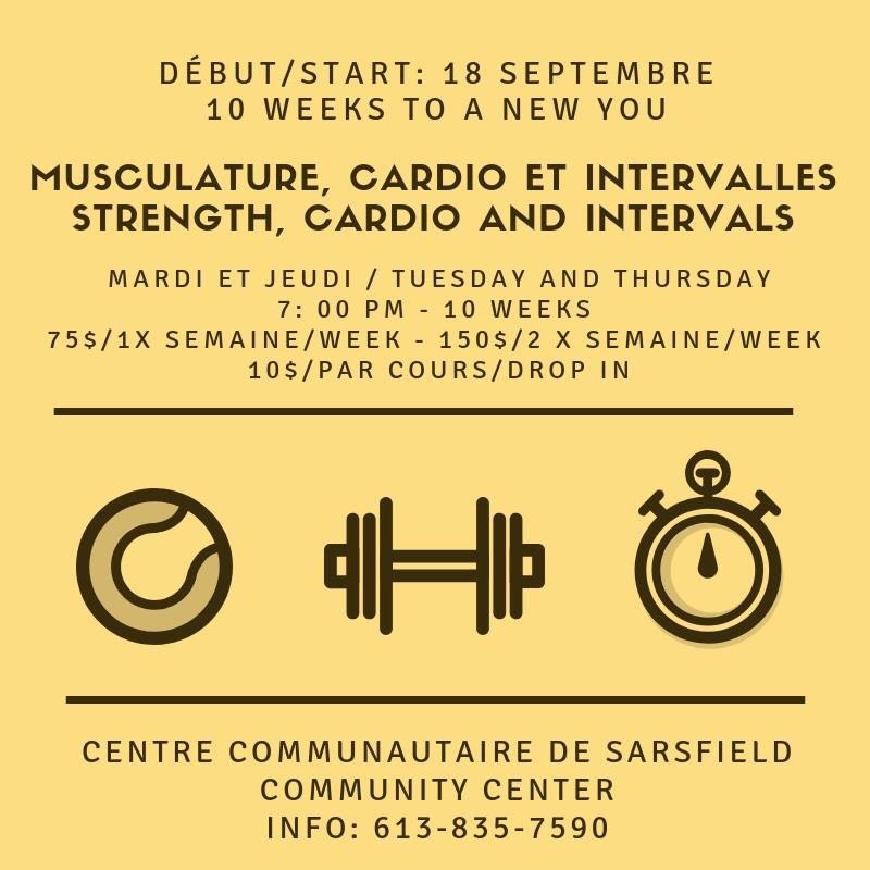 Strength, cardio and intervals course